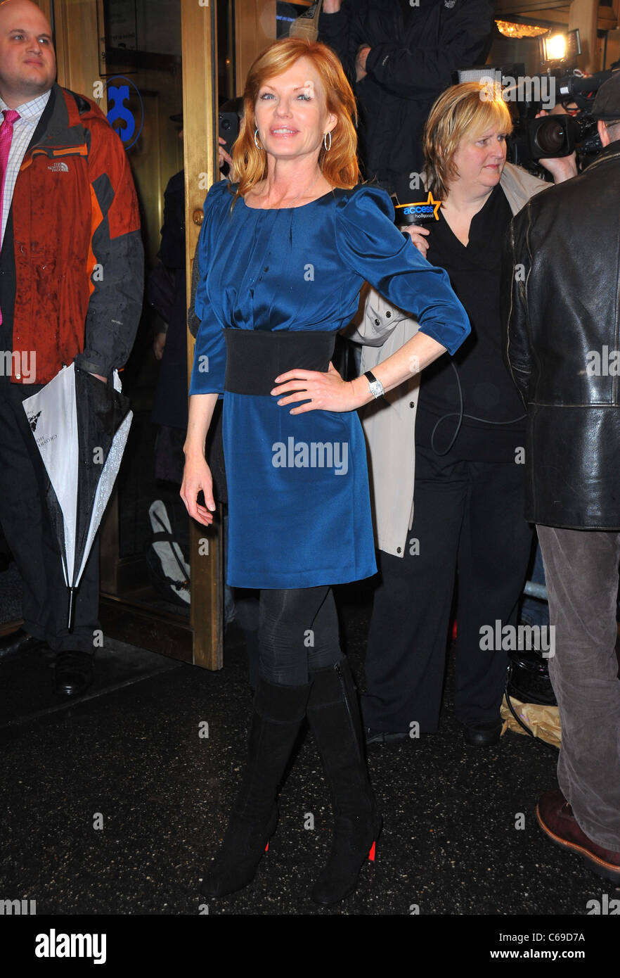 Marg Helgenberger in attendance for THAT CHAMPIONSHIP SEASON Opening Night on Broadway, Bernard B. Jacobs Theatre, - Stock Image