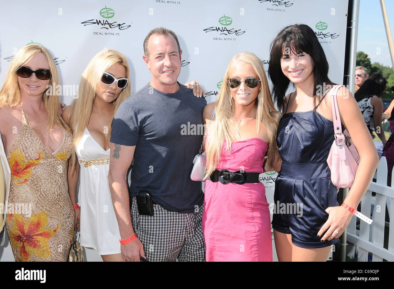 Mike Lohan, guests at a public appearance for 2010 Mercedes-Benz Polo Challenge, Bridgehampton Polo Club at Two - Stock Image