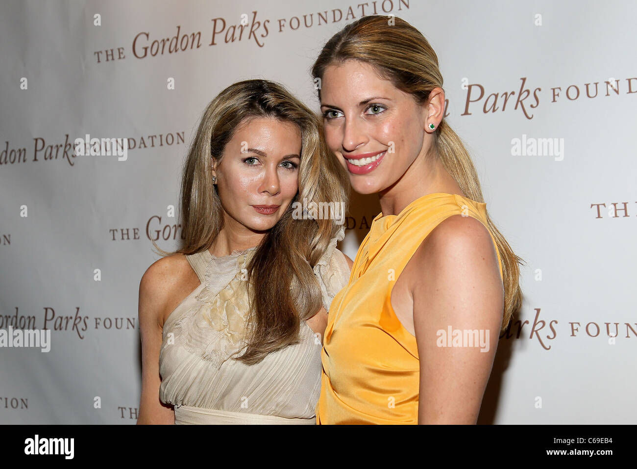 Julia Moore, Valerie Boster in attendance for The Gordon Parks Foundation Awards Dinner and Auction, Gotham Hall, - Stock Image