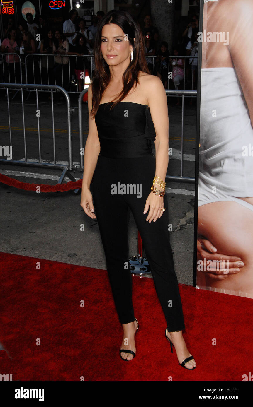 e339a9cbdf Sandra Bullock (wearing a Lanvin jumpsuit) at arrivals for THE CHANGE-UP  Premiere