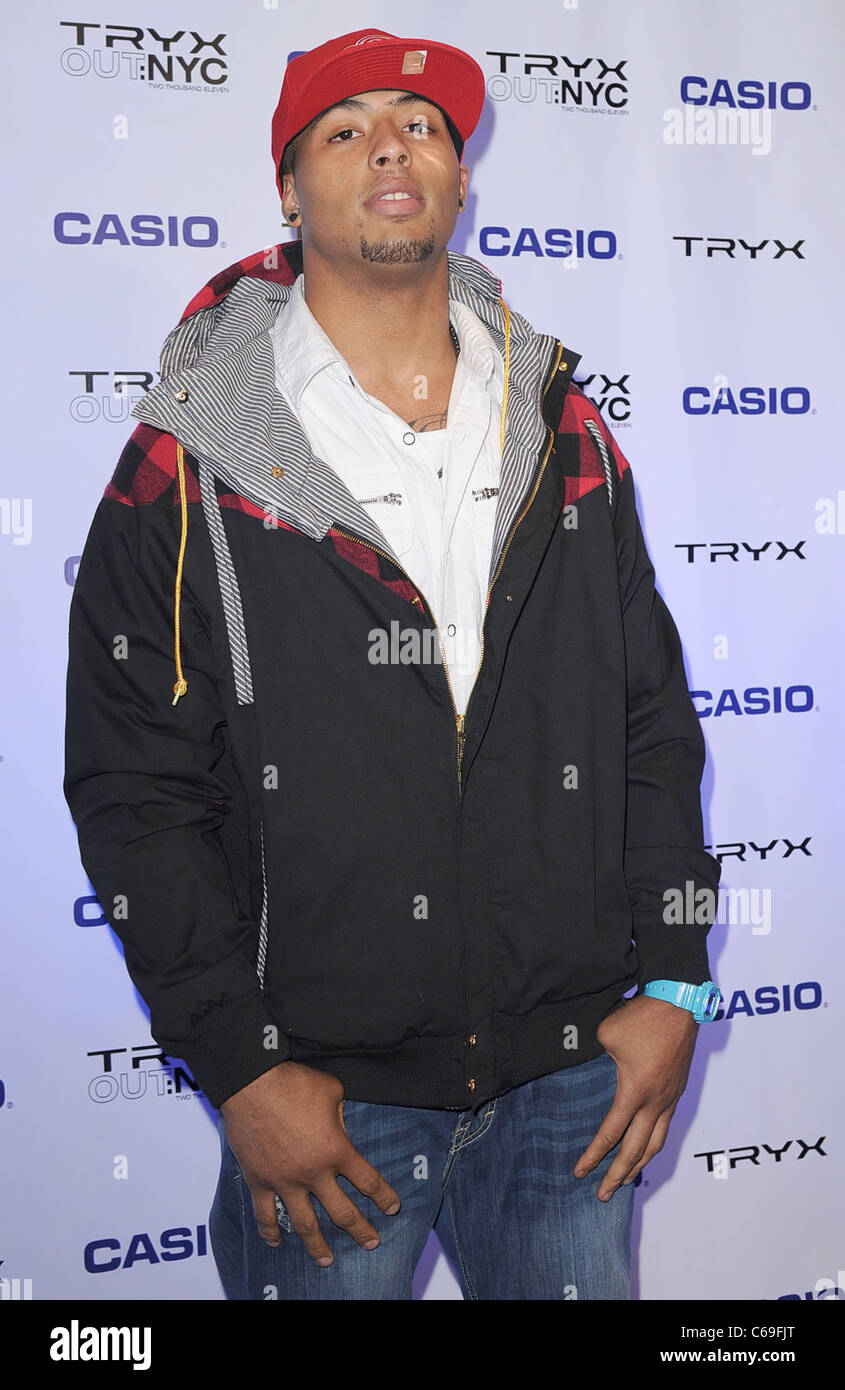 Andrew Quarless in attendance for Casio Tryx Camera Launch, Best Buy Theatre in Times Square, New York, NY April - Stock Image