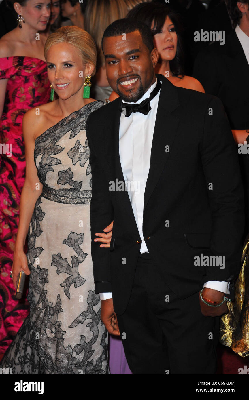Tory Burch, Kanye West at arrivals for Alexander McQueen: Savage Beauty Opening Night Gala - Part 1, Metropolitan - Stock Image