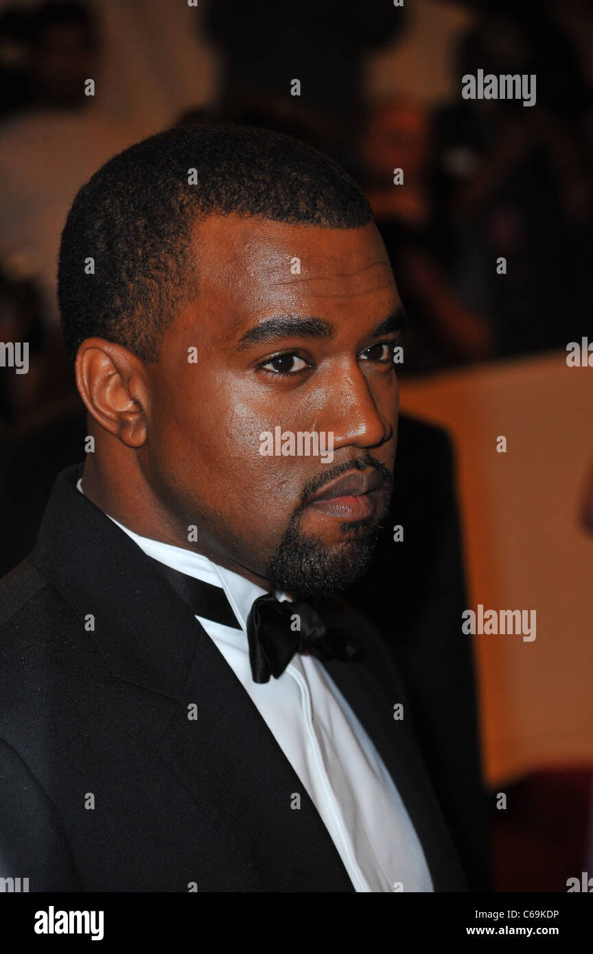 Kanye West at arrivals for Alexander McQueen: Savage Beauty Opening Night Gala - Part 1, Metropolitan Museum of - Stock Image