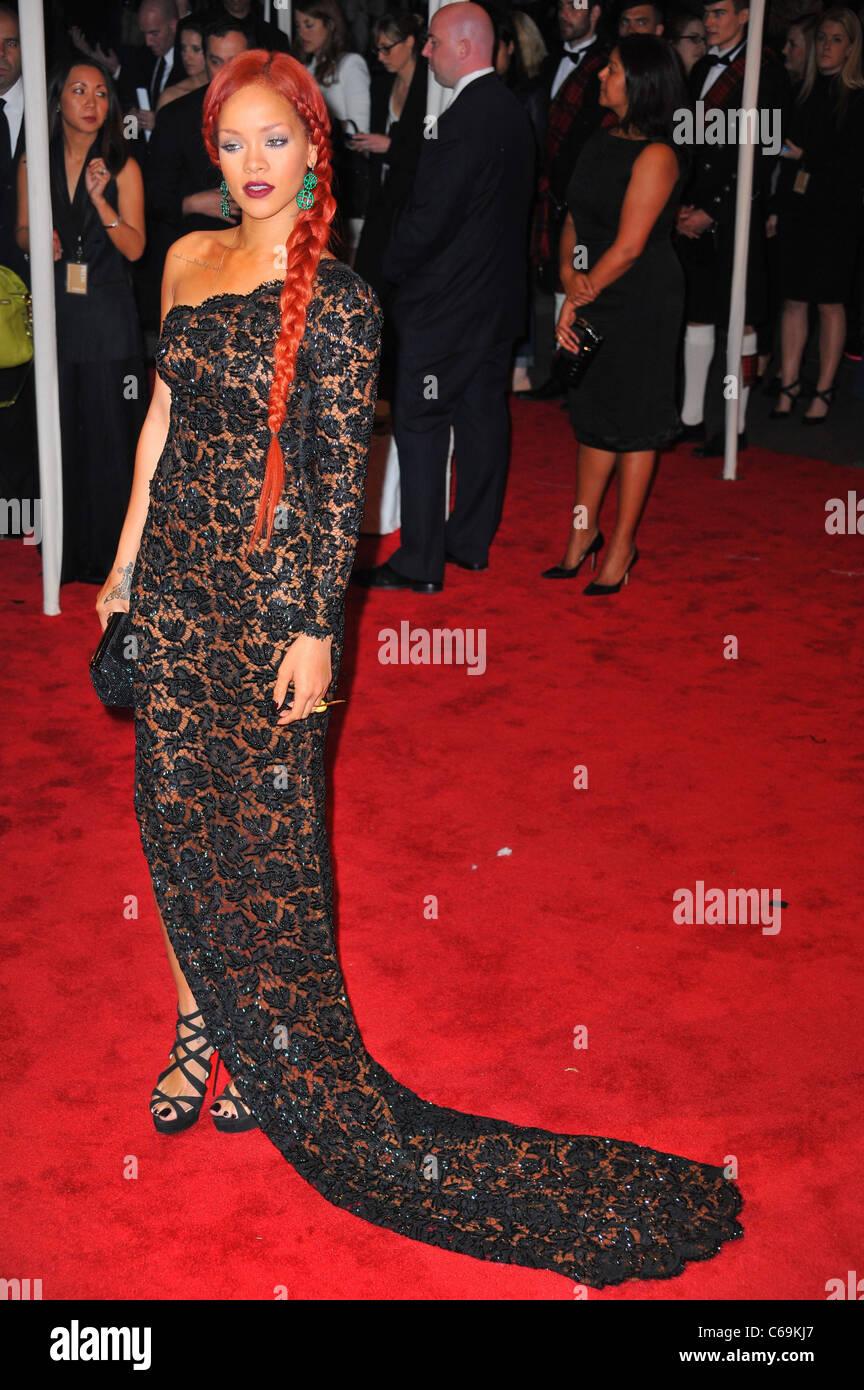 Rihanna (wearing a Stella McCartney gown) at arrivals for Alexander ...