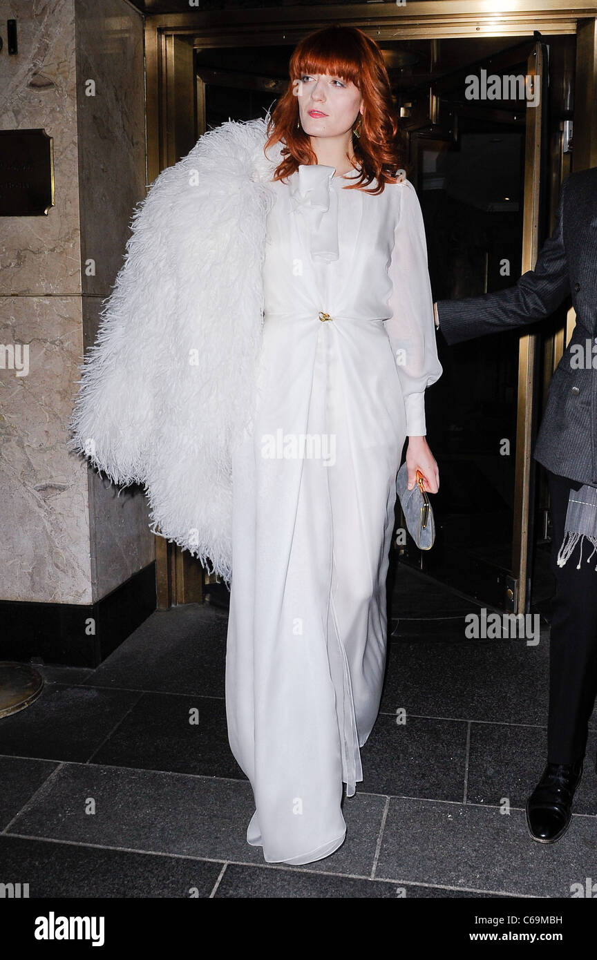 Florence Welch, leaves the Carlyle Hotel out and about for CELEBRITY CANDIDS - MON, , New York, NY May 2, 2011. - Stock Image