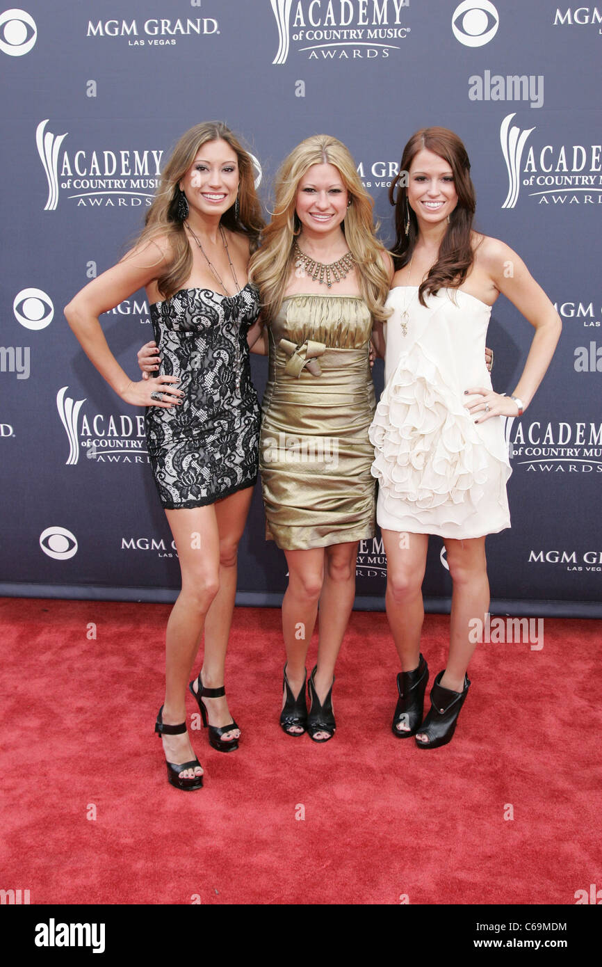 Emily Fortney, Becky Robertson, Joanna Robertson, Carters Chord at arrivals for Academy of Country Music ACM Awards - Stock Image