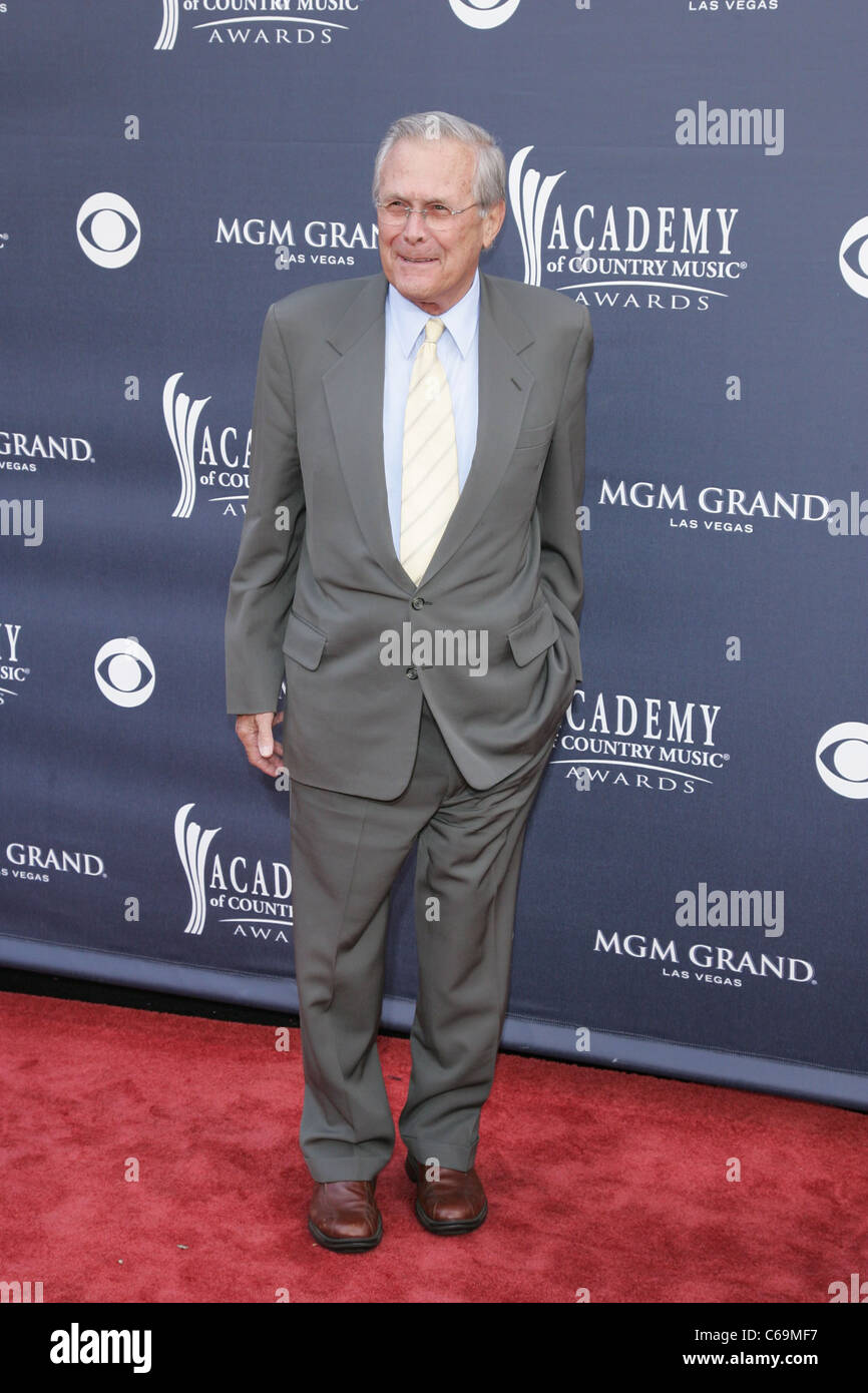 Donald Rumsfeld at arrivals for Academy of Country Music ACM Awards 2011 - Arrivals, MGM Grand Garden Arena, Las - Stock Image