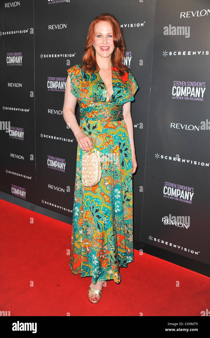 Katie Finneran at arrivals for Premiere Screening of Filmed Version of COMPANY Revival, NYIT Auditorium on Broadway, - Stock Image