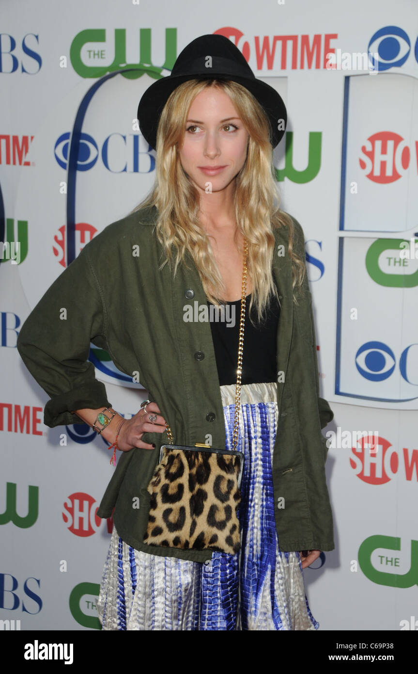 Gillian Zinser at arrivals for CBS, The CW and Showtime Summer 2011 TCA Tour, The Pagoda, Los Angeles, CA August - Stock Image