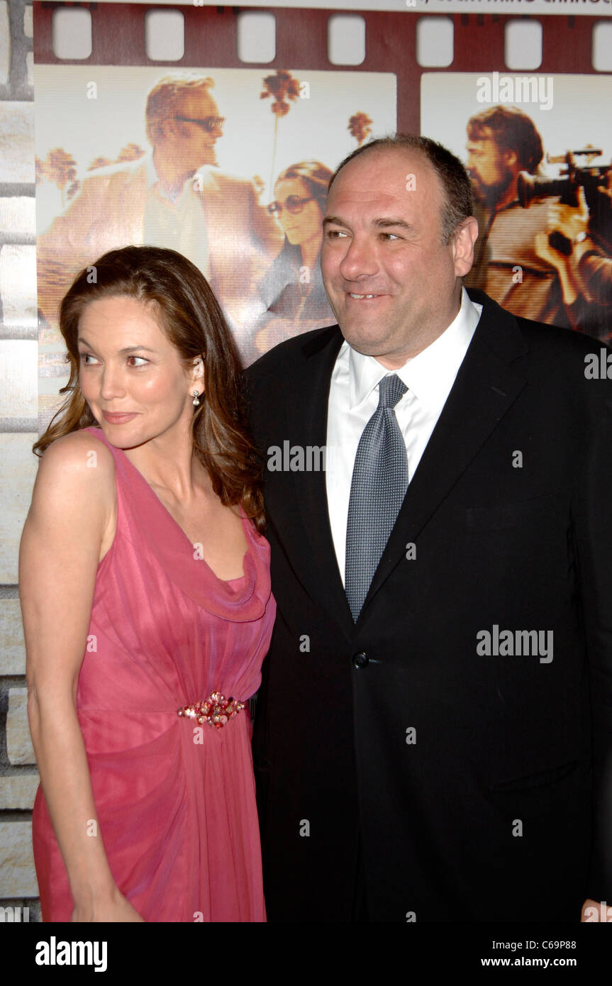 Diane Lane, James Gandolfini at arrivals for CINEMA VERITE Premiere by HBO, Paramount Studios, Los Angeles, CA April - Stock Image