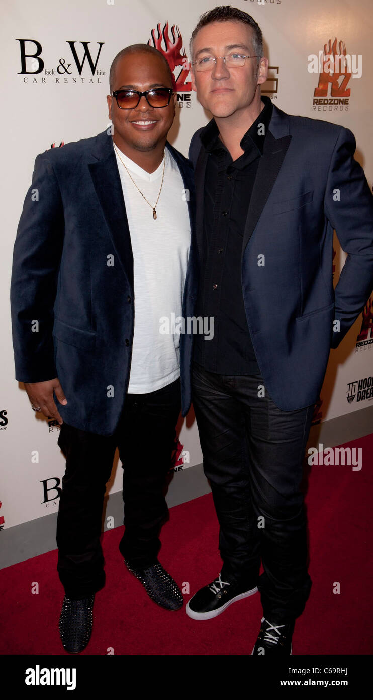 Tricky Stewart, Thomas Shoos in attendance for Redzone Entertainment 2011 Grammy Nominations Party, Playhouse Hollywood, - Stock Image