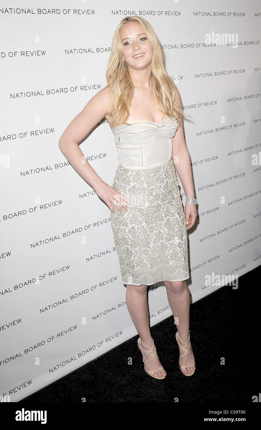 Jennifer Lawrence (wearing a Proenza Schouler dress) at arrivals for The National Board of Review 2011 Awards Gala, - Stock Image