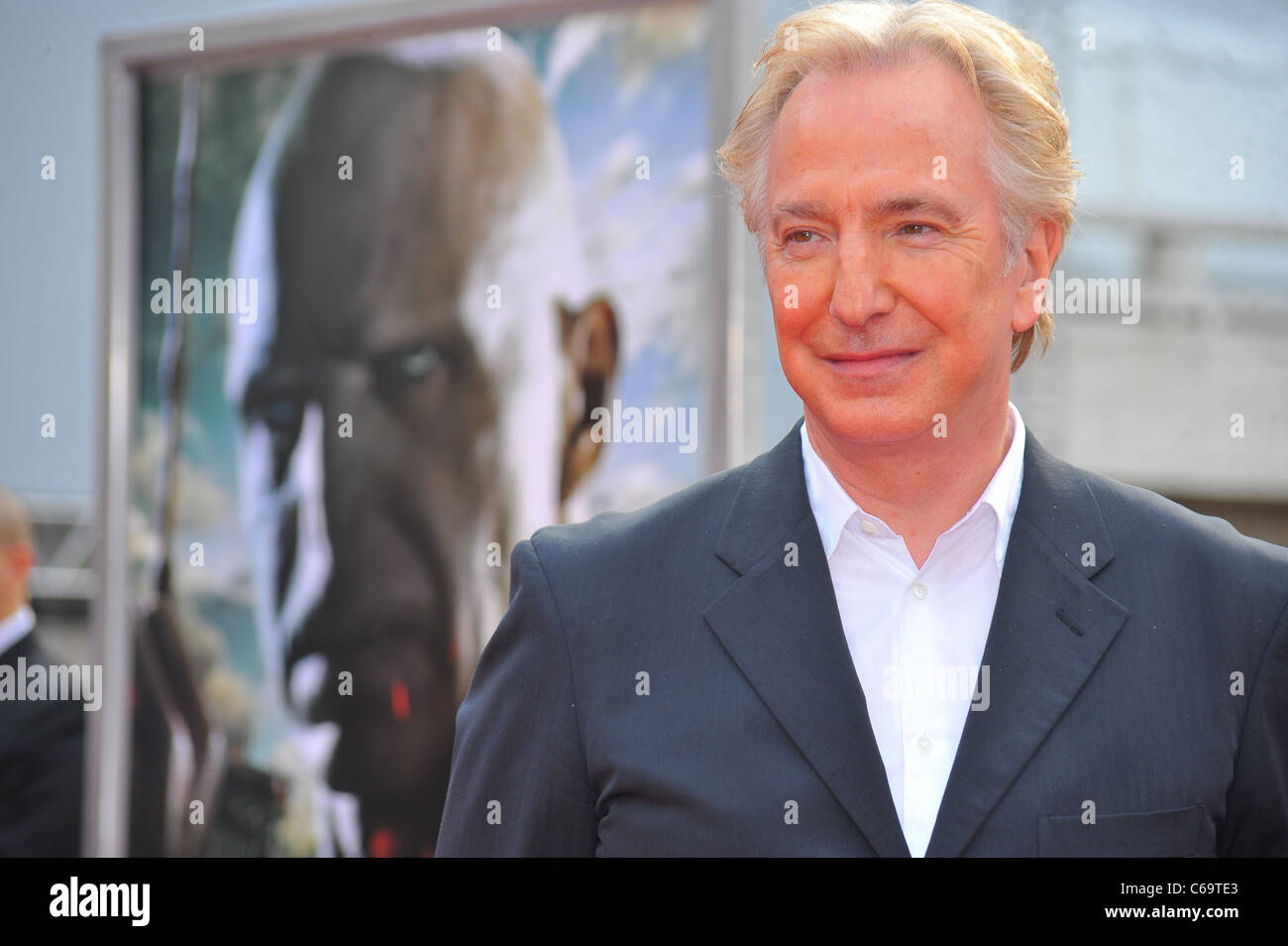 Alan Rickman at arrivals for Harry Potter and the Deathly Hallows - Part 2 North American Premiere, Avery Fisher - Stock Image