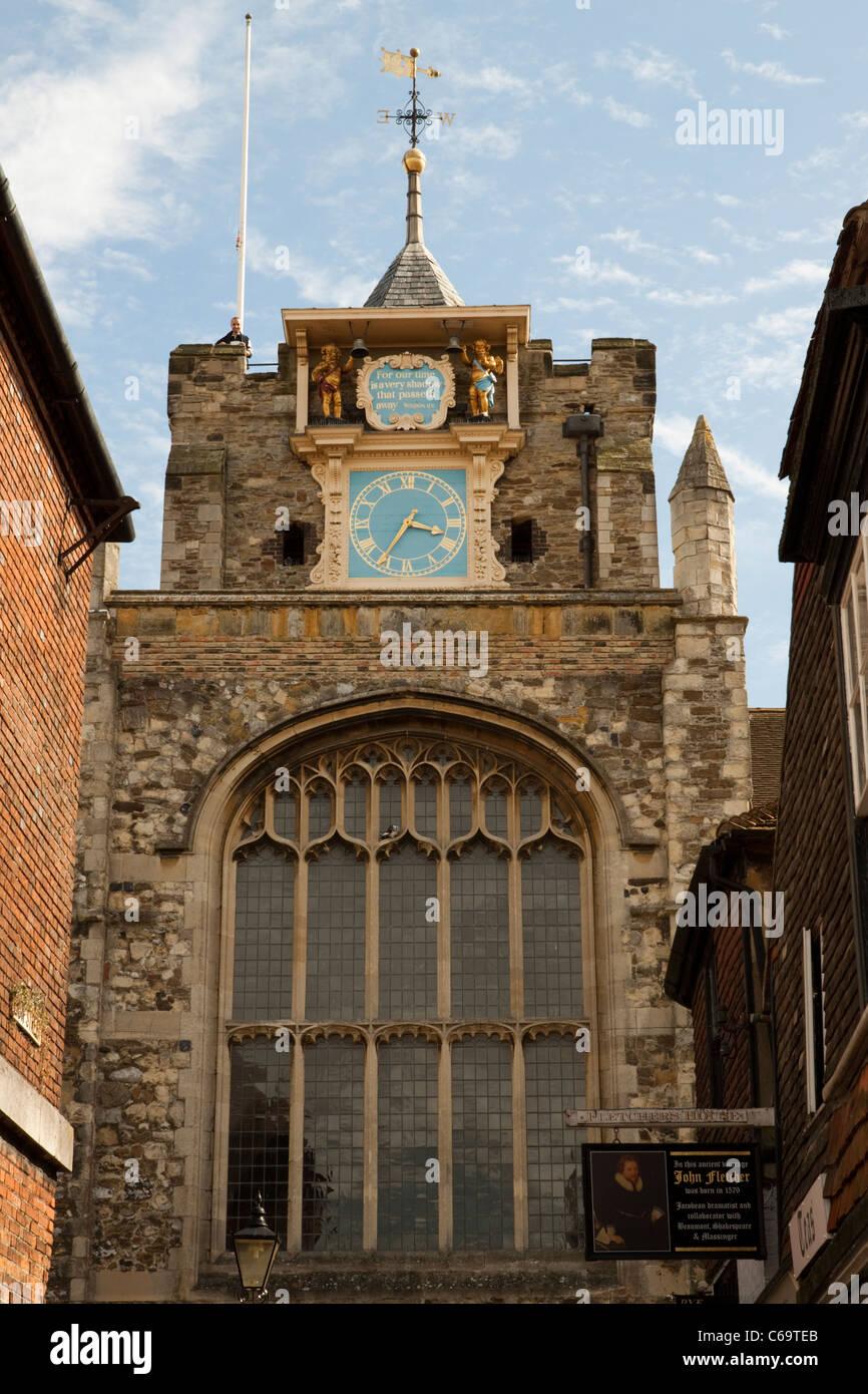 Parish church of Rye, East Sussex, England, UK - Stock Image