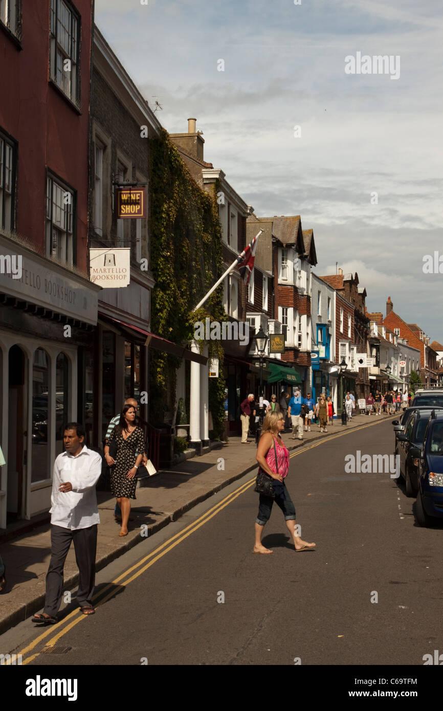 Rye High Street, East Sussex, England, UK - Stock Image