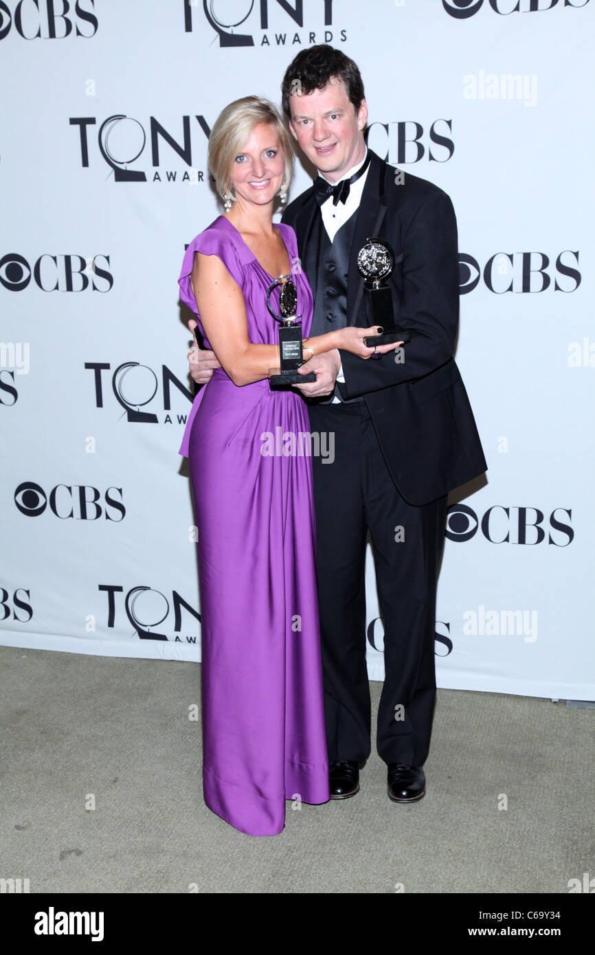 Marianne Elliott and Tom Morris in the press room for American Theatre Wing's 65th Annual Antoinette Perry Tony - Stock Image