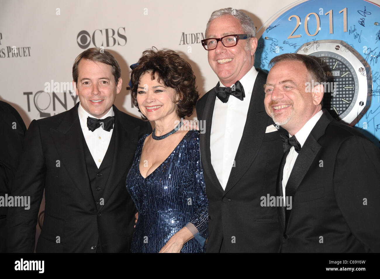 Matthew Broderick,guests, Mark Shaiman at arrivals for American Theatre Wing's 65th Annual Antoinette Perry - Stock Image