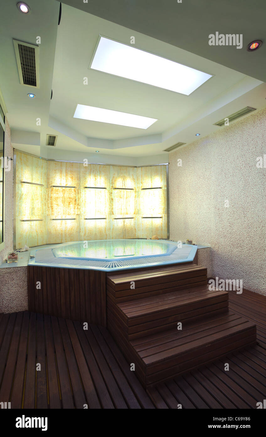 Jacuzzi Interior.Interior Of A Hotel Jacuzzi Modern And Simple Style Stock