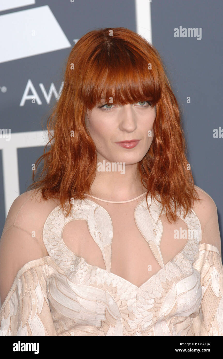 Florence Welch at arrivals for The 53rd Annual GRAMMY Awards, Staples Center, Los Angeles, CA February 13, 2011. - Stock Image