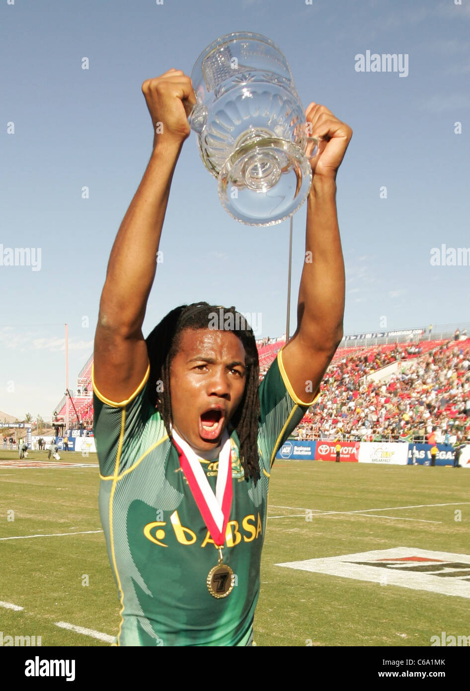 Cecil Afrika of South Africa at a public appearance for The 2011 USA Sevens Rugby Tournament and Fan Festival - - Stock Image