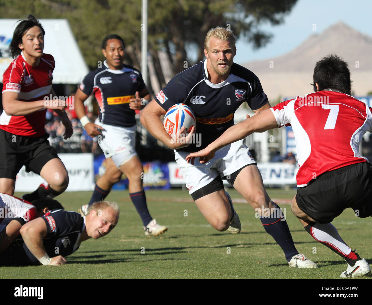 Matt Hawkins of the USA at a public appearance for The 2011 USA Sevens Rugby Tournament and Fan Festival - Day 2, Stock Photo