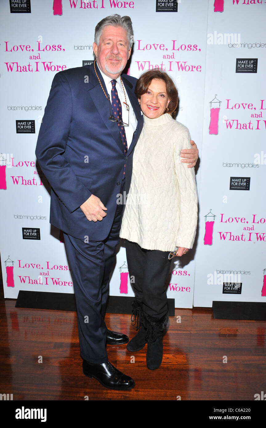 Edward Herrmann, Kelly Bishop at the after-party for LOVE, LOSS and WHAT I WORE 500th Performance Celebration, B - Stock Image