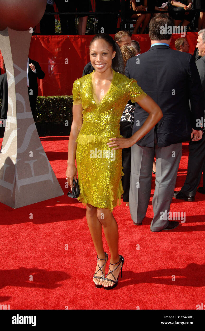 Allyson Felix at arrivals for The 2011 ESPY Awards - ARRIVALS, Nokia Theatre at L.A. LIVE, Los Angeles, CA July - Stock Image