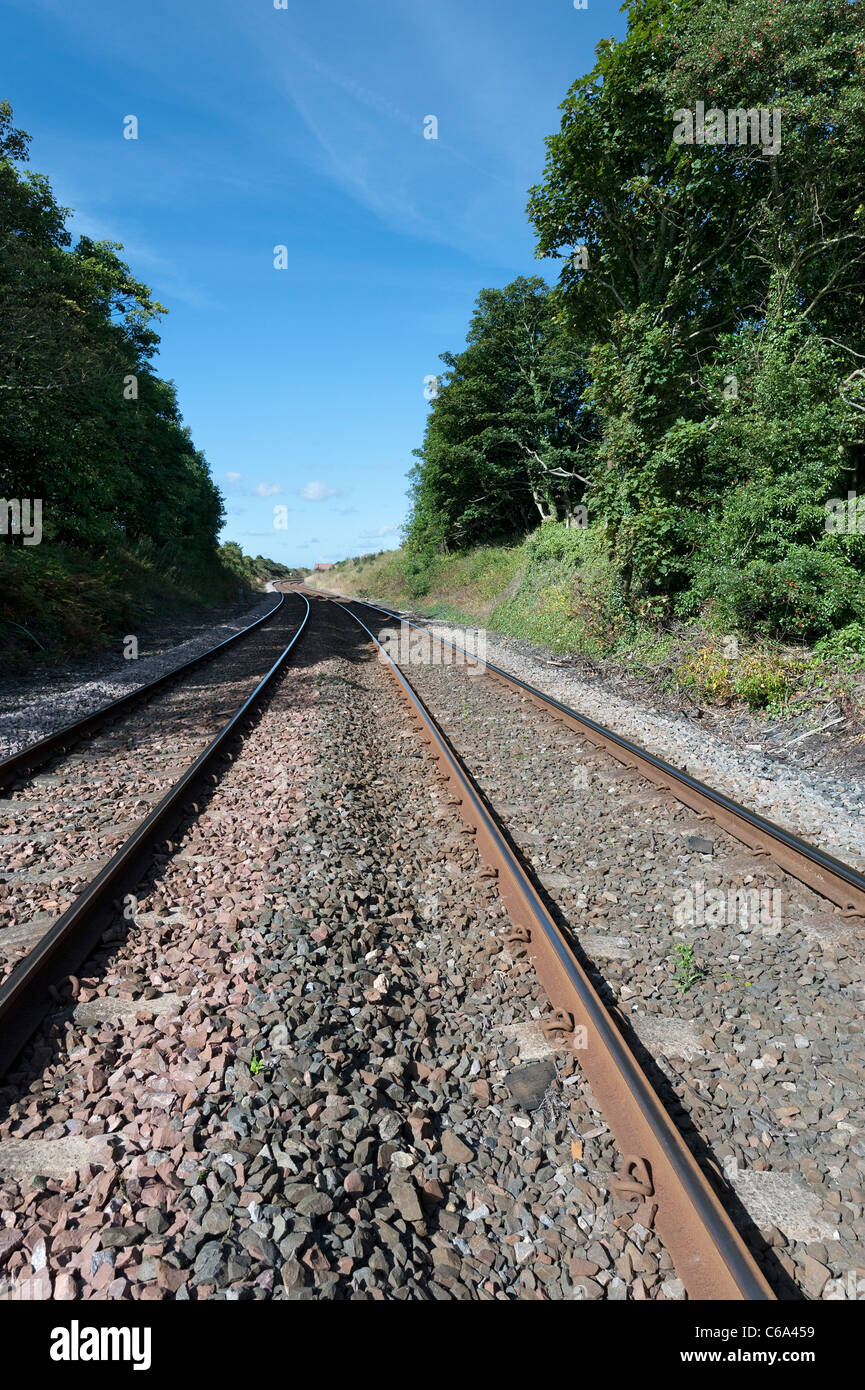Railway tracks - Stock Image