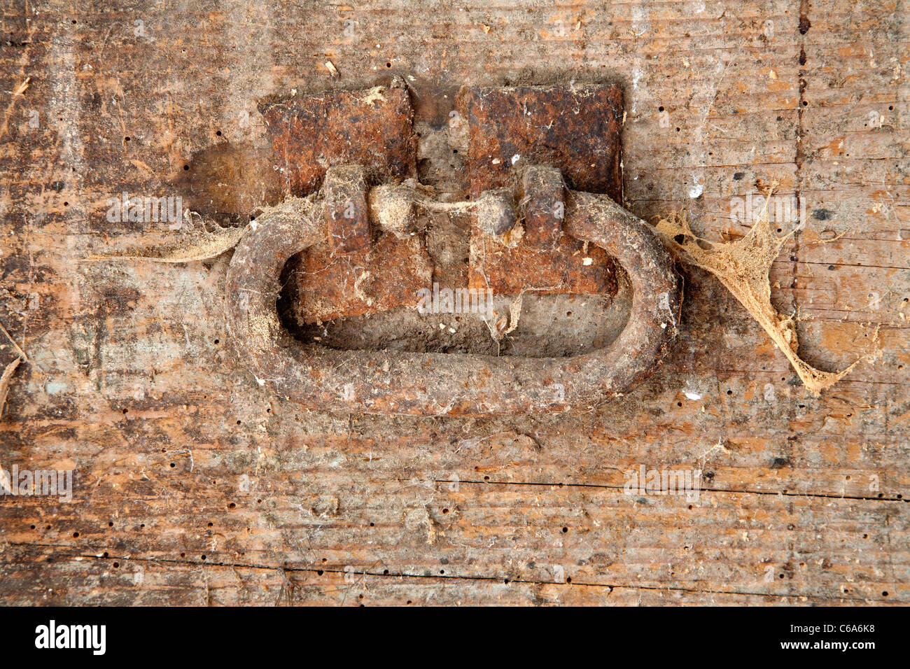detail of old box - Stock Image