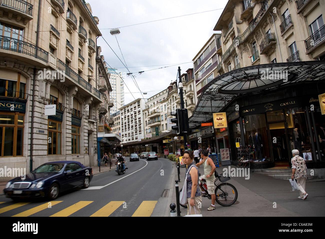 Avenue du Casino in Montreux - Stock Image
