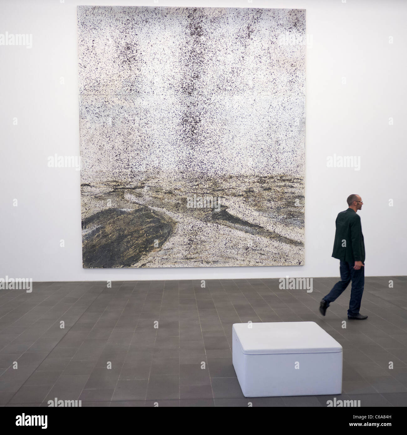 Painting Cette Obscure clarte qui tombe des etoiles by Anselm Kiefer at Kuppersmuhle Museum at Innenhafen area of - Stock Image
