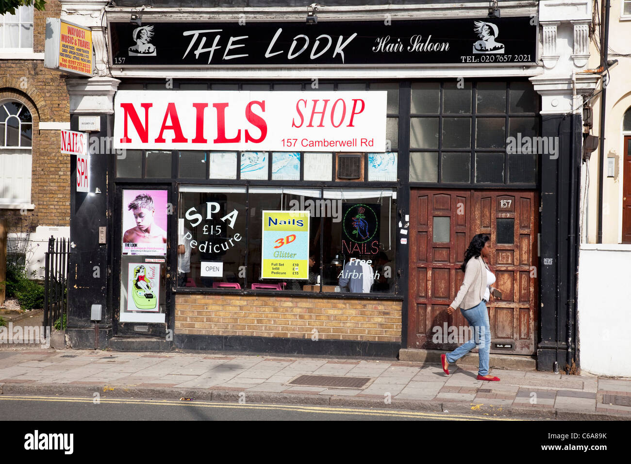 The Look hair salon and Nail Bar shop on Camberwell Road in South ...