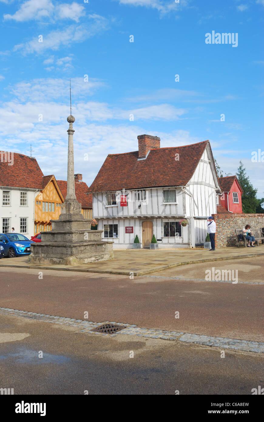 Town Square Lavenham - Stock Image