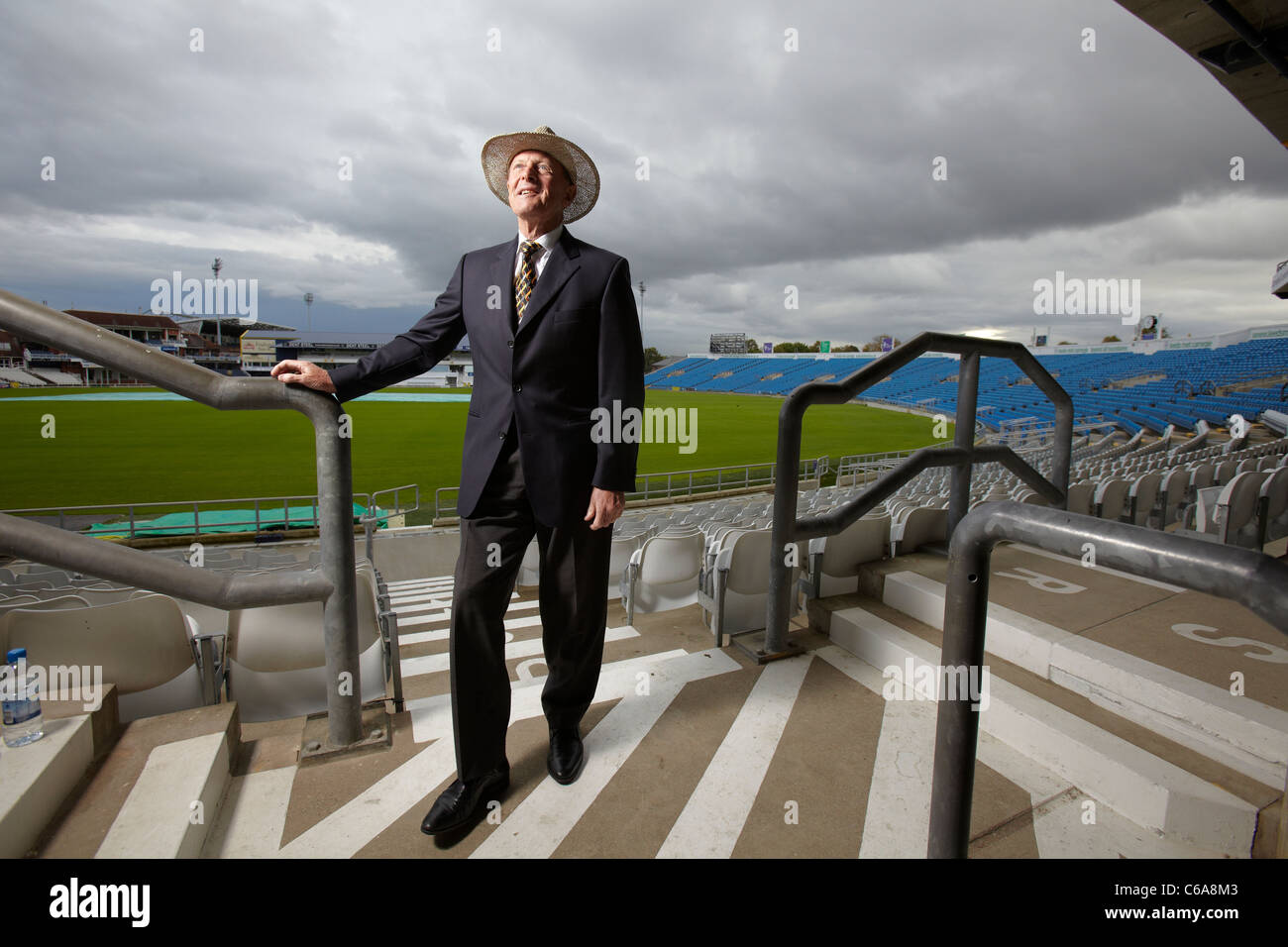 Geoffrey Boycott pictured at Yorkshire County Cricket Club, 19th October 2010 - Stock Image