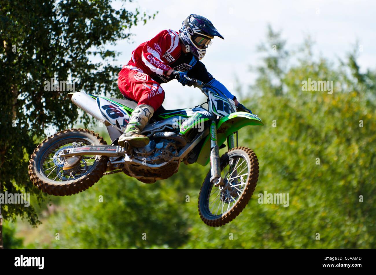 Motocross Racing @ Finningley, Yorkshire, United Kingdom - Stock Image