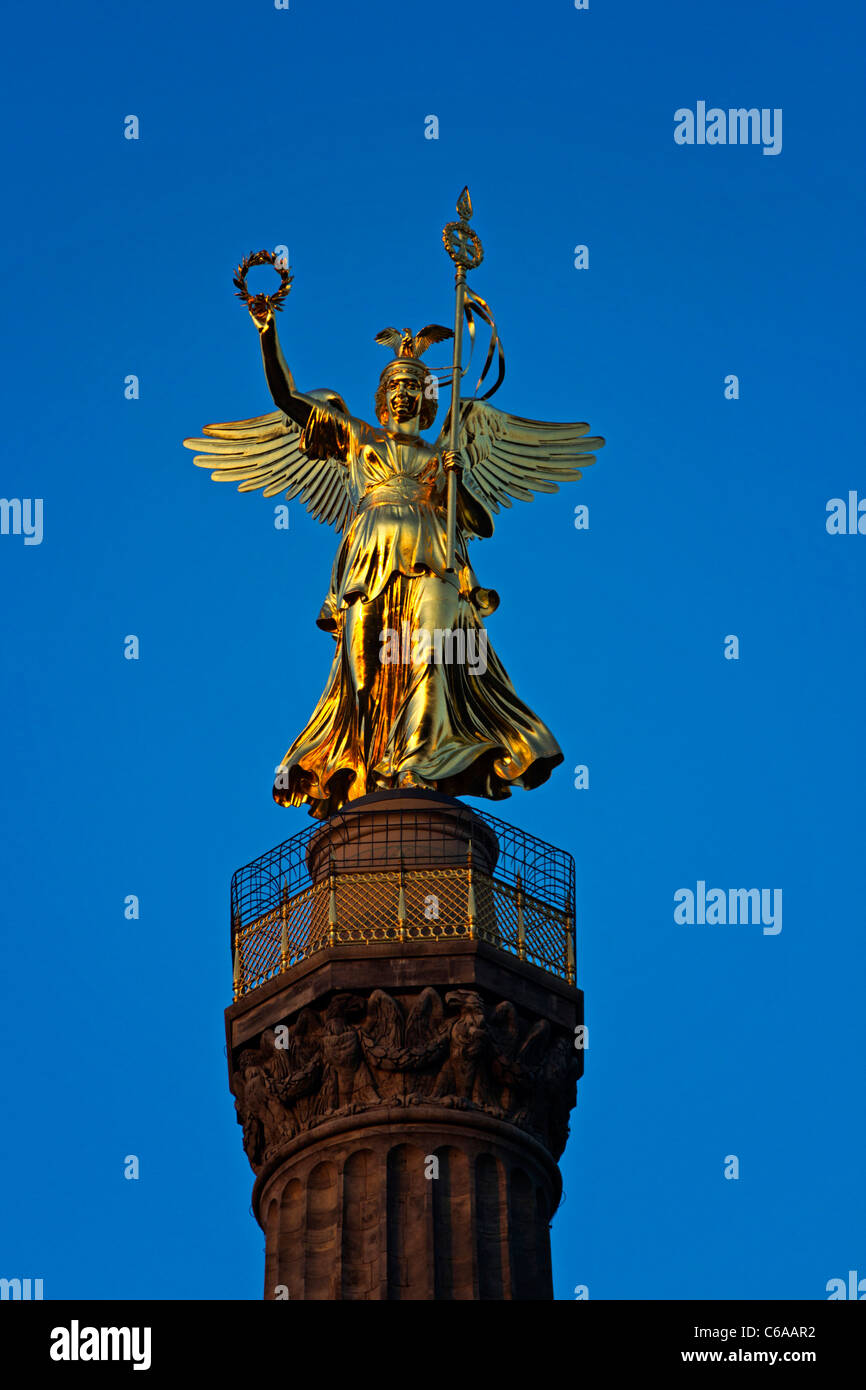 Siegessaeule victory column Berlin Stock Photo