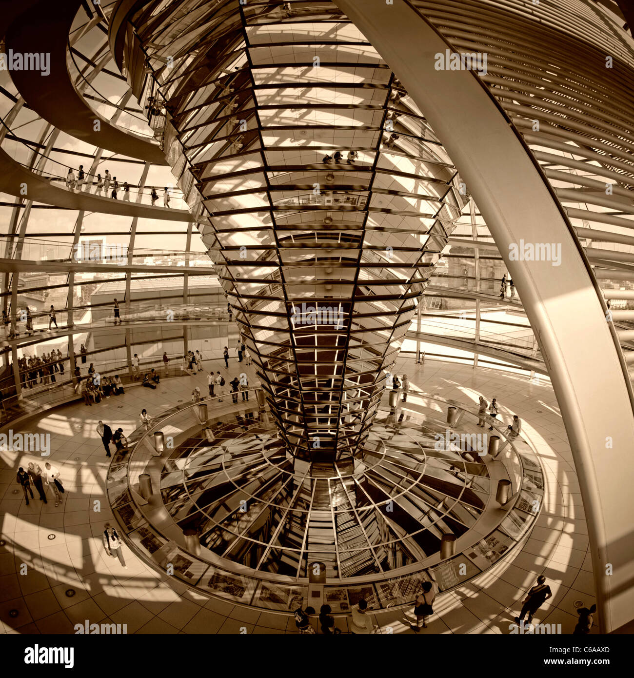 Reichstag buidling , roof top terasse cupola by Sir Norman Forster, Berlin,  Stock Photo
