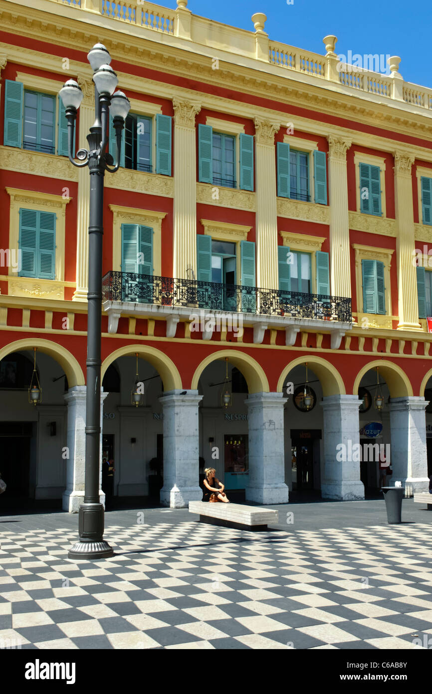 France, French Reviera, Nice, Place Massena, Stock Photo