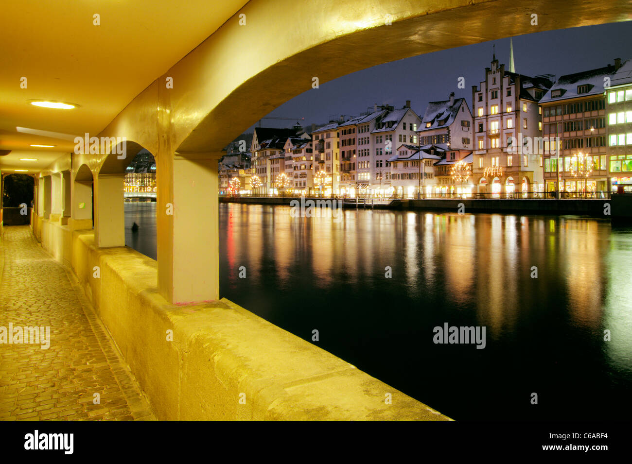 Limmat, Zurich, Switzerland - Stock Image