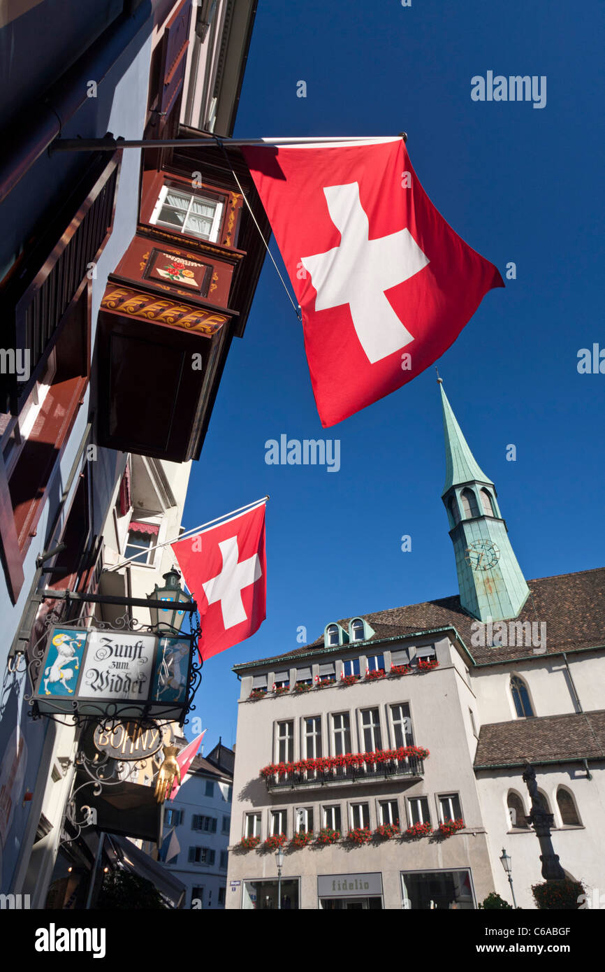 Old City Center, Widder, Zurich, Switzerland - Stock Image