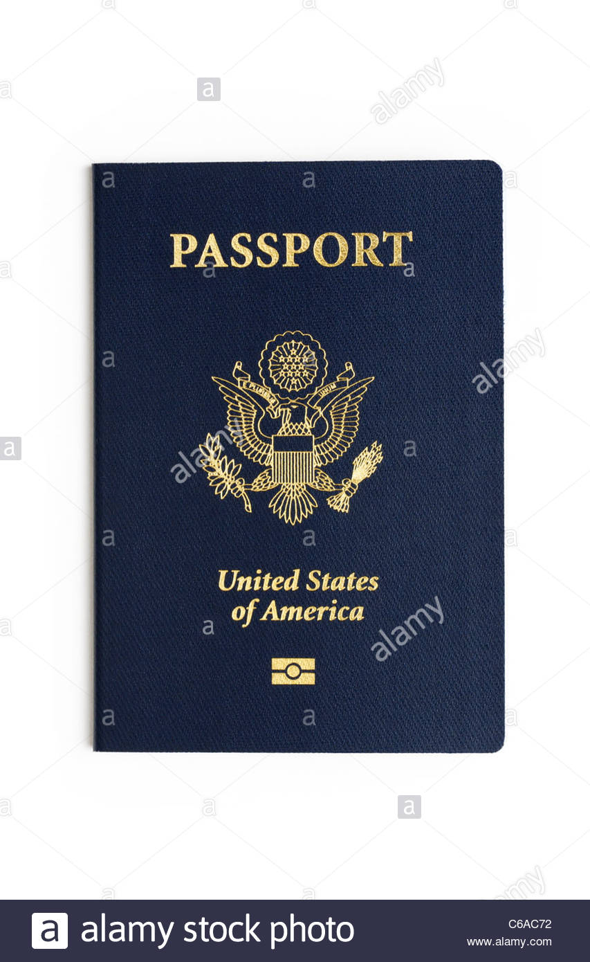 United States passport - Stock Image