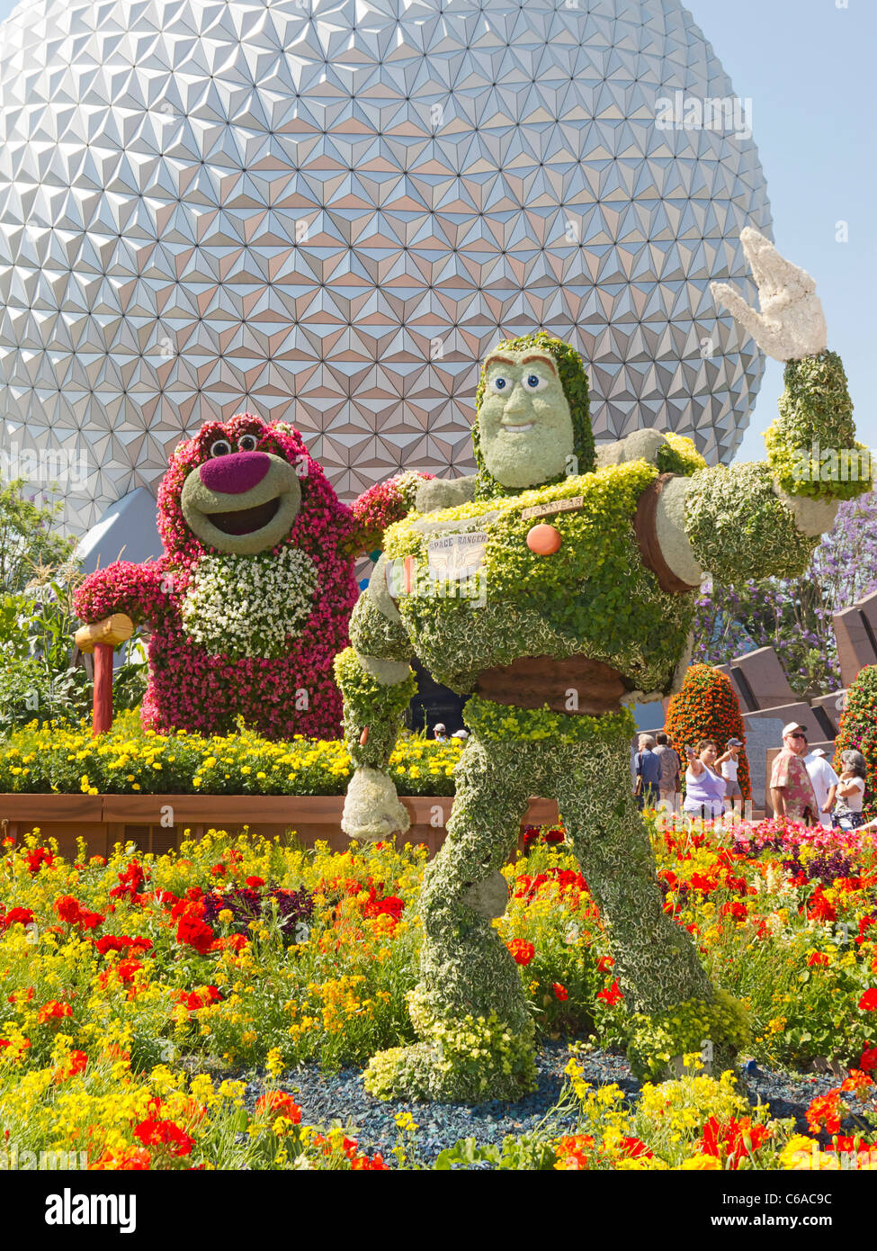 Buzz Lightyear Topiary plant at Epcot, Disney World, Florida, USA. - Stock Image