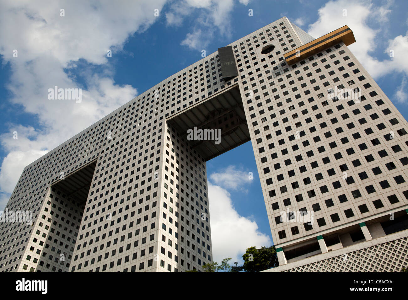 The Elephant Building is one of the most famous buildings in Bangkok thanks to its resemblance to an elephant. - Stock Image