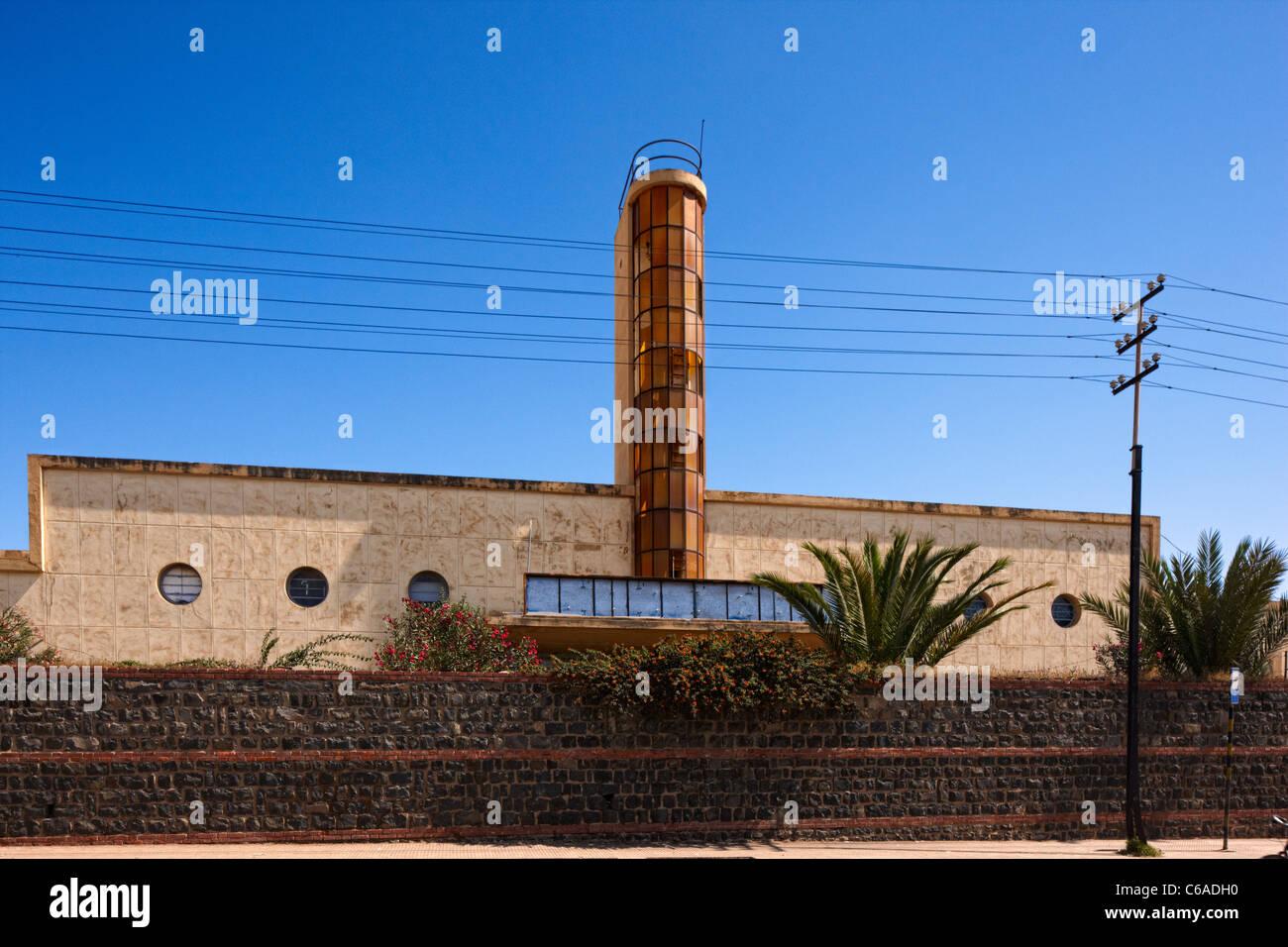 Former Lancia Workshop, Asmara, Eritrea, Africa - Stock Image