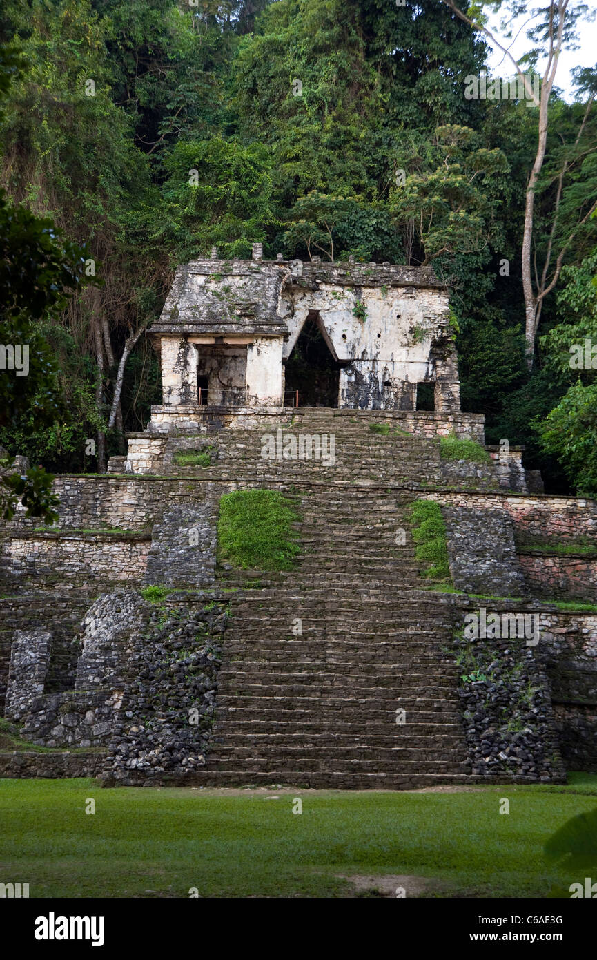 Mayan Ruins at Palenque, Mexico - Stock Image
