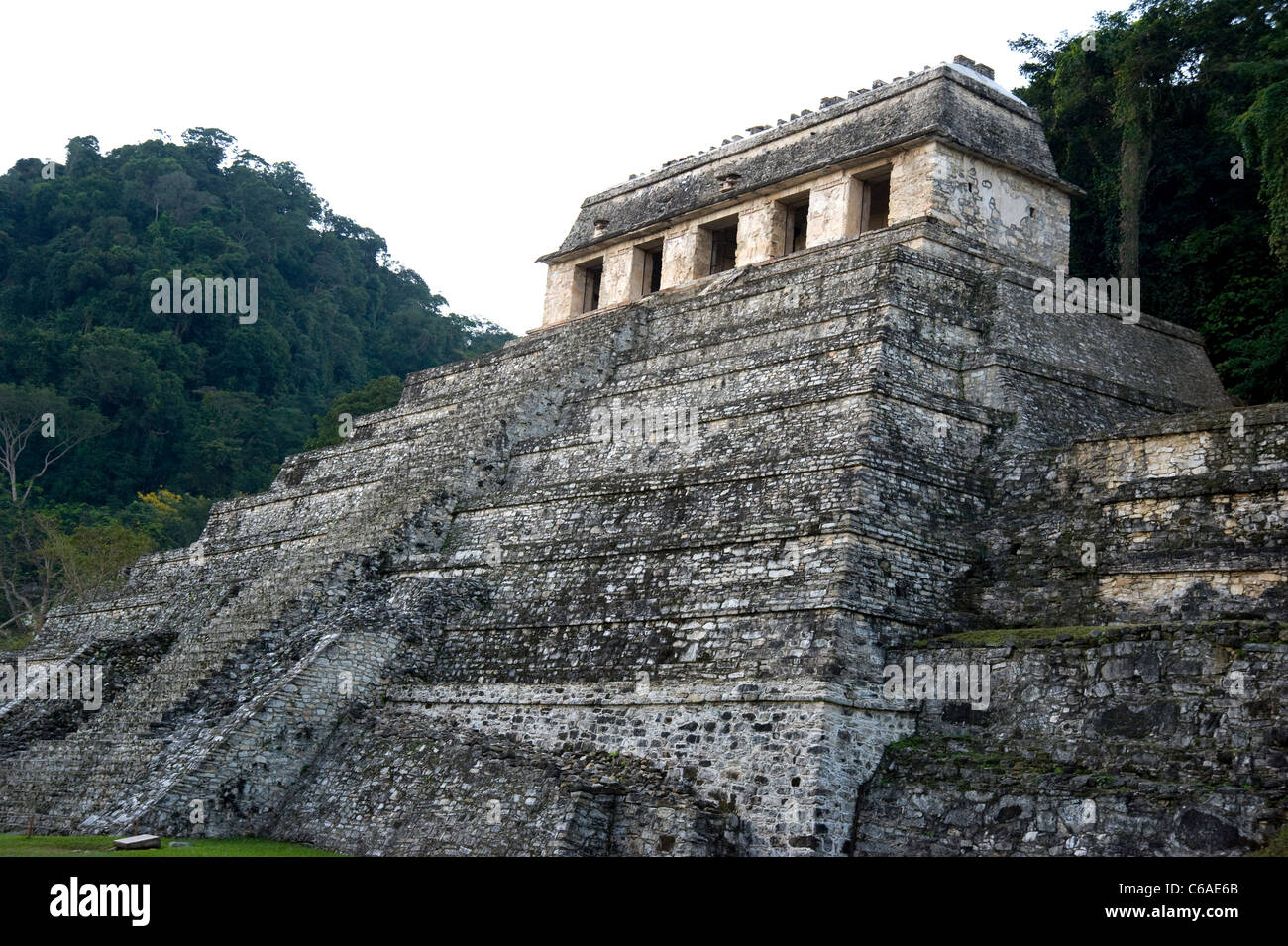 Mayan Ruins at Palenque, Mexico - Stock Image