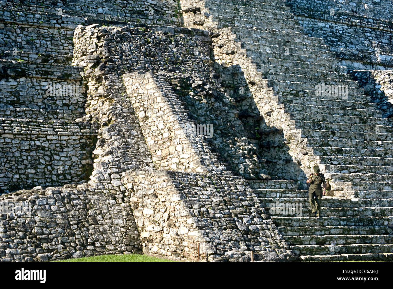 Mayan Ruins at Palenque in Mexico - Stock Image