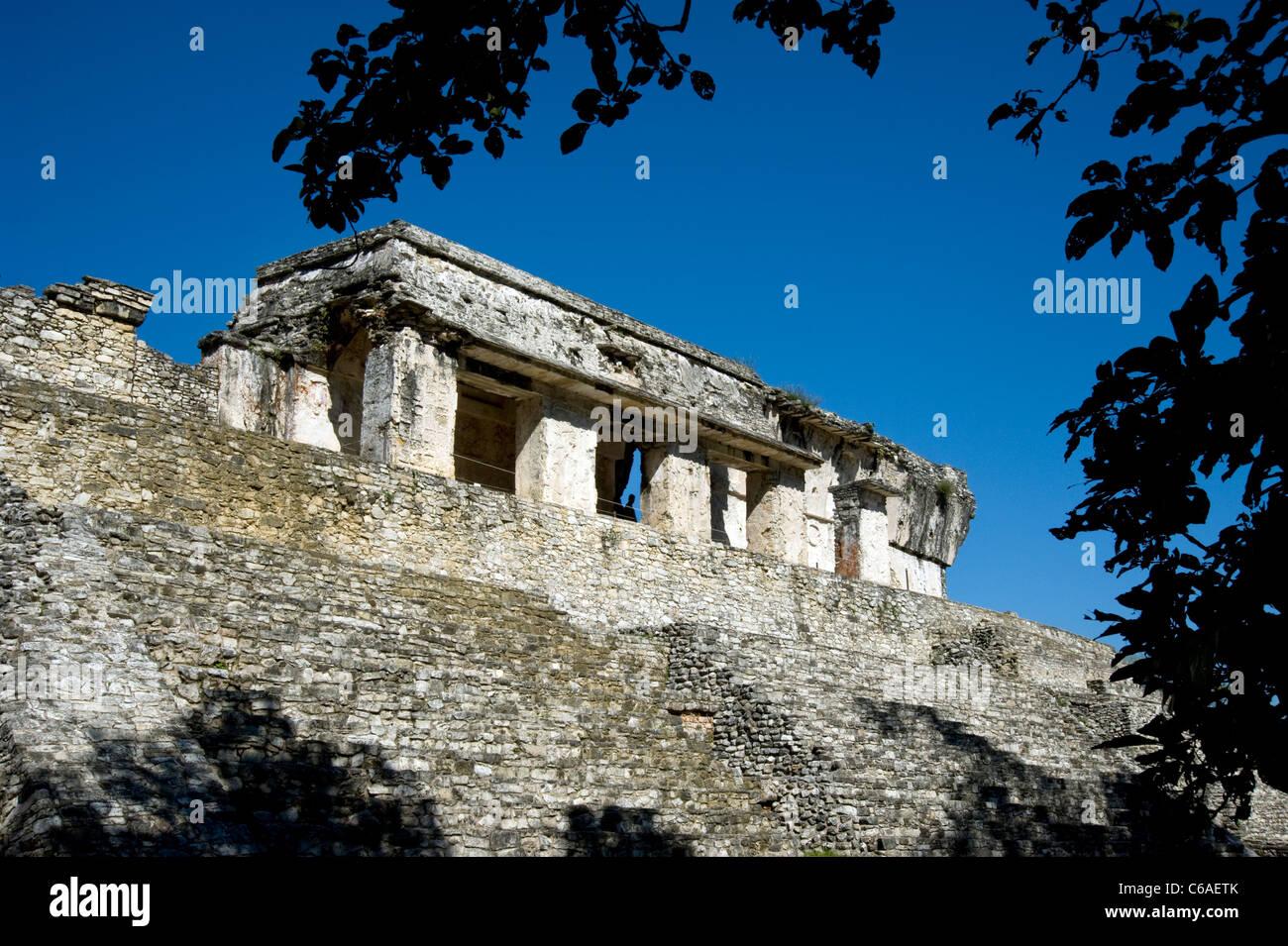 Mayan Ruins at Palenque in Mexico - Stock Image