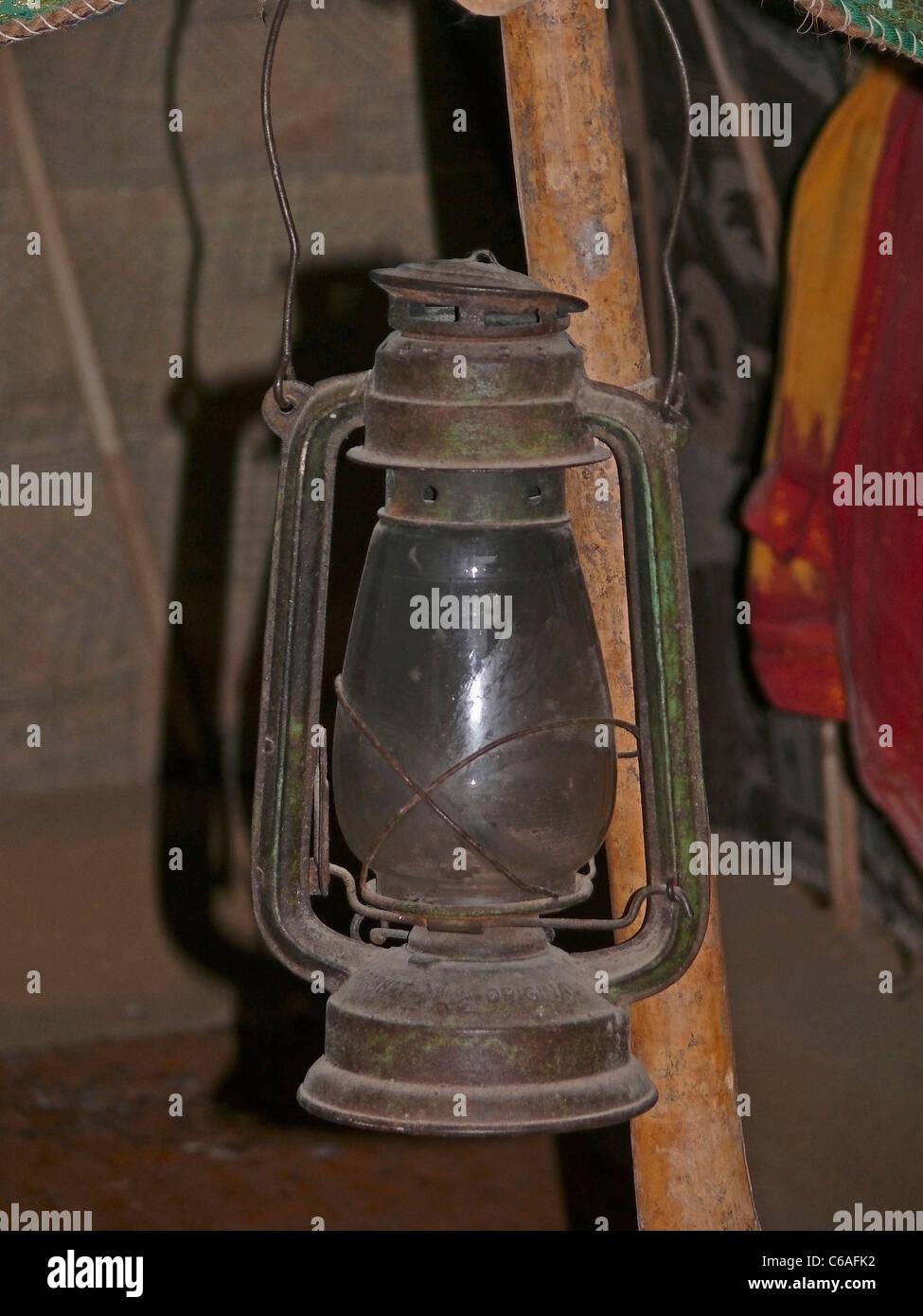 Antique Lantern, Kerosene lamp - Stock Image
