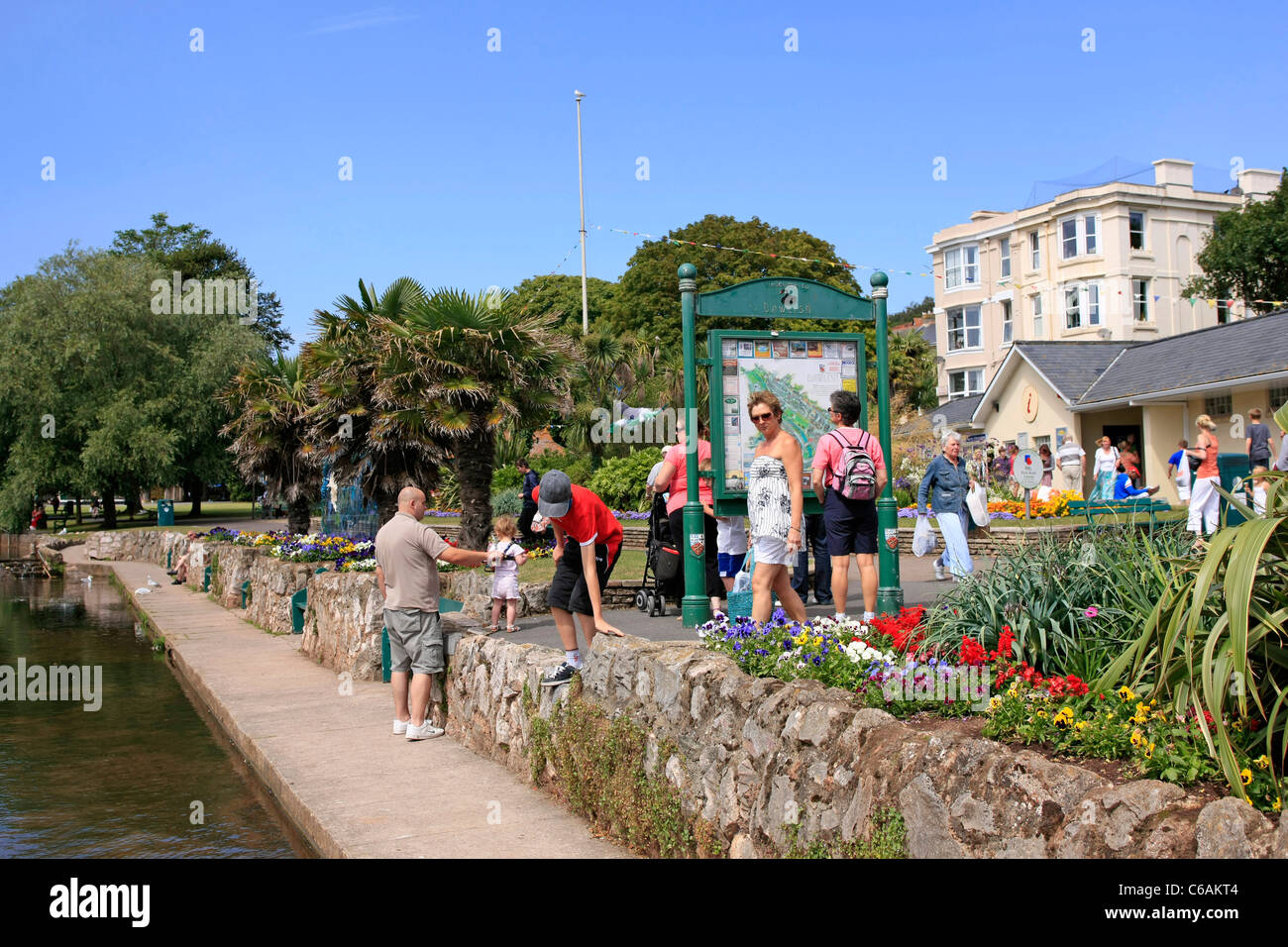 The Lawn, a family gardens in Dawlish Devon - Stock Image